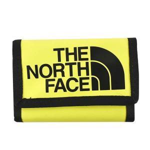 ノースフェイス THE NORTH FACE 財布 三つ折り財布 折りたたみ財布 NF00CE69 メンズ イエロー ナイロンバッグ ロゴ ブランド|fashion-labo