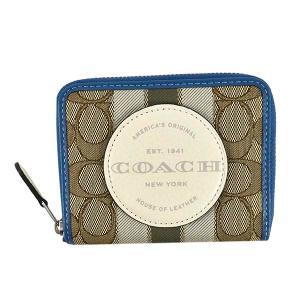 コーチ COACH 財布 二つ折り財布 折り財布 2637 レディース ベージュ ブルー ブランド|fashion-labo