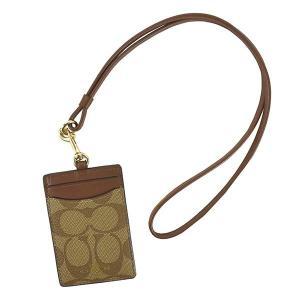 コーチ COACH パスケース カードケース 63274 レディース ブラウン レザー 本革 牛革 シグネチャー ロゴ ブランド|fashion-labo