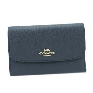 コーチ COACH 財布 三つ折り財布 折り財布 30204 レディース ネイビー レザー 本革 牛革 ブランド|fashion-labo