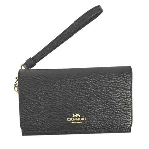 コーチ COACH 財布 二つ折り財布 折り財布 フォンウォレット 30205 レディース ブラック 黒 レザー ブランド|fashion-labo