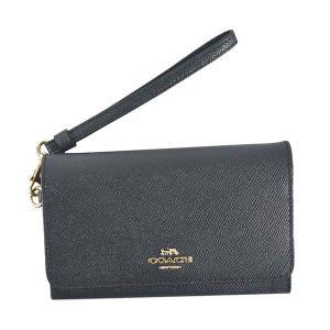 コーチ COACH 財布 二つ折り財布 折り財布 フォンウォレット 30205 レディース ネイビー レザー ブランド|fashion-labo