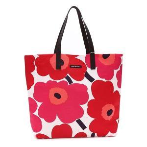 マリメッコ MARIMEKKO バッグ トートバッグ ウニッコ 43461 レディース レッド 赤 花柄 フラワー コットン ブランド|fashion-labo