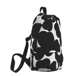 マリメッコ MARIMEKKO バッグ バックパック リュックサック リュック ウニッコ 47327 レディース ブラック ホワイト 花柄 フラワー ブランド|fashion-labo