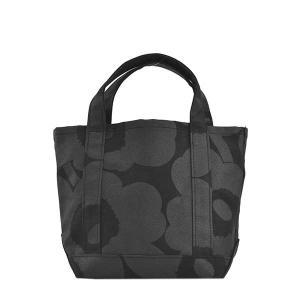 マリメッコ MARIMEKKO バッグ ハンドバッグ トートバッグ ウニッコ 47586 レディース ブラック 黒 コットン ブランド 花柄|fashion-labo