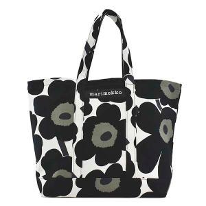 マリメッコ MARIMEKKO バッグ トートバッグ レディース ウニッコ UNIKKO 花柄 フラワー ブラック ホワイト オリーブ 大容量 ブランド 48295|fashion-labo