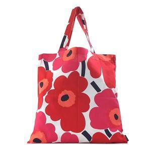 マリメッコ MARIMEKKO バッグ トートバッグ ウニッコ 67572 レディース レッド 赤 花柄 フラワー コットン ブランド|fashion-labo
