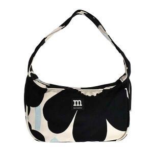 マリメッコ MARIMEKKO バッグ ハンドバッグ ショルダーバッグ ウニッコ 90117 レディース ブラック ホワイト 黒 白 花柄 コットン ブランド|fashion-labo