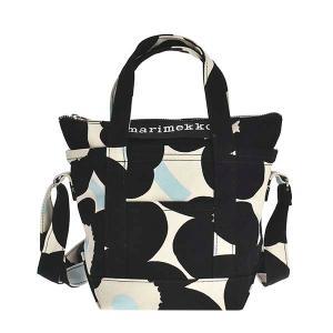 マリメッコ MARIMEKKO バッグ ハンドバッグ ショルダーバッグ 2WAYバッグ ウニッコ 90118 レディース ブラック ホワイト 黒 白 花柄 ブランド|fashion-labo