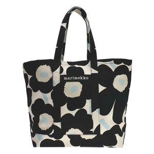 マリメッコ MARIMEKKO バッグ トートバッグ ショルダーバッグ ウニッコ 90120 レディース ブラック ホワイト 黒 白 花柄 ブランド|fashion-labo