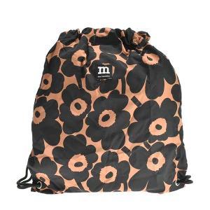 マリメッコ MARIMEKKO バッグ バックパック リュックサック リュック ナップサック ウニッコ 90148 レディース ブラック ブラウン 花柄 ブランド|fashion-labo