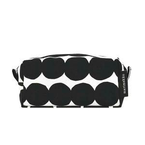 マリメッコ MARIMEKKO ポーチ 化粧ポーチ コスメポーチ 47245 レディース ブラック ホワイト 黒 白 コットン 小物入れ ブランド|fashion-labo