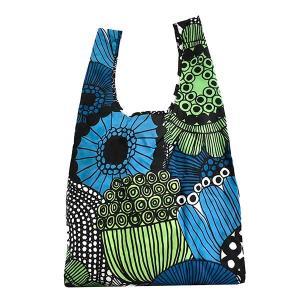 マリメッコ MARIMEKKO バッグ トートバッグ エコバッグ レディース 花柄 フラワー 折り畳み ナイロン グリーン ブランド 48856|fashion-labo