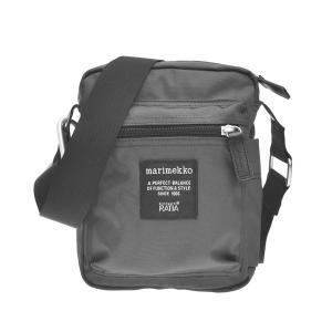 マリメッコ MARIMEKKO バッグ ショルダーバッグ レディース メンズ ブラック 黒 ブランド 026992 CASH & CARRY ナナメガケ GY 900|fashion-labo