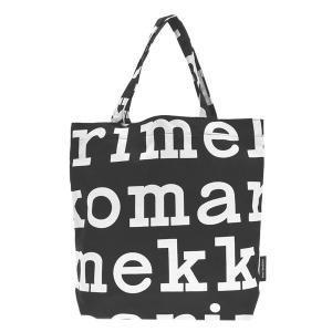 マリメッコ MARIMEKKO バッグ トートバッグ エコバッグ エコトート 47312 レディース ブラック ホワイト コットン ブランド|fashion-labo