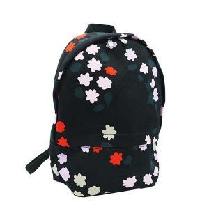 マリメッコ MARIMEKKO バッグ バックパック リュックサック リュック 47956 レディース ブラック 黒 花柄 コットン ブランド|fashion-labo