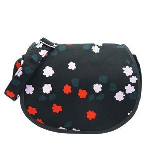 マリメッコ MARIMEKKO バッグ ショルダーバッグ 斜め掛けバッグ ブラック 黒 フラワー 花柄 レディース ブランド 47958|fashion-labo