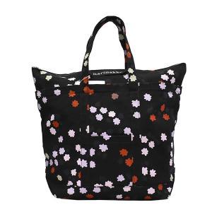 マリメッコ MARIMEKKO バッグ トートバッグ フラワー 花柄 ブラック レディース ブランド 47961|fashion-labo
