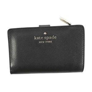 ケイトスペード KATE SPADE 財布 二つ折り財布 折りたたみ財布 WLR00128 レディース ブラック 黒 ゴールド レザー 本革 牛革 ロゴ ブランド fashion-labo
