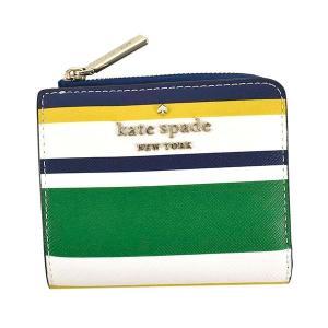 ケイトスペード KATE SPADE 財布 二つ折り財布 折りたたみ財布 WLR00429 レディース マルチカラー ボーダー ロゴ ブランド ミニ財布 fashion-labo