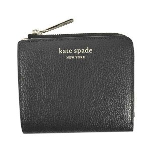 ケイトスペード KATE SPADE 財布 二つ折り財布 折りたたみ財布 WLRU6253 レディース ブラック 黒色 レザー 本革 牛革 ロゴ ブランド ミニ財布 fashion-labo