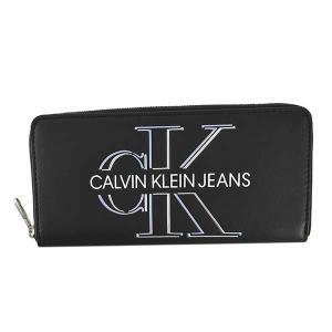 カルバンクラインジーンズ CALVIN KLEIN JEANS 財布 長財布 ラウンドファスナー K60K607631 メンズ ブラック 黒 CK ロゴ ブランド fashion-labo