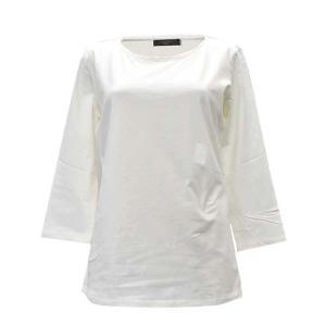 マックスマーラウィークエンド MAXMARA WEEKEND Tシャツ カットソー トップス 七分袖 XSサイズ レディース アイボリー コットン ブランド fashion-labo