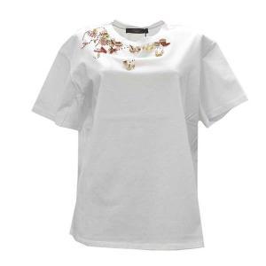 マックスマーラウィークエンド MAXMARA WEEKEND Tシャツ カットソー トップス クルーネック 半袖 レディース ホワイト コットン ブランド fashion-labo