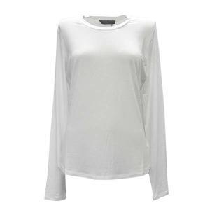 マックスマーラウィークエンド MAXMARA WEEKEND Tシャツ ロンT カットソー トップス 長袖 Lサイズ レディース ホワイト ブランド fashion-labo
