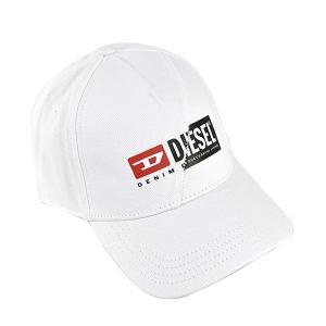 ディーゼル DIESEL 帽子 キャップ ベースボールキャップ スナップバック 野球帽 A00584 メンズ ホワイト フリーサイズ 白色 コットン ブランド fashion-labo