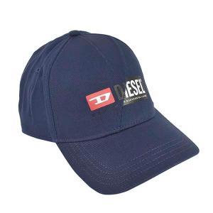 ディーゼル DIESEL 帽子 キャップ ベースボールキャップ スナップバック 野球帽 A00584 メンズ ネイビー フリーサイズ コットン ブランド fashion-labo