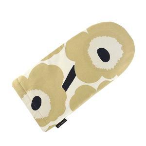 マリメッコ MARIMEKKO オーブンミット 鍋つかみ ミトン 手袋 ウニッコ UNIKKO 69908 レディース ベージュ コットン 花柄 フラワー ブランド|fashion-labo