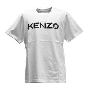 ケンゾー KENZO Tシャツ トップス ロゴTシャツ Sサイズ FA65TS0004SJ メンズ ホワイト 100%コットン ロゴ ブランド fashion-labo