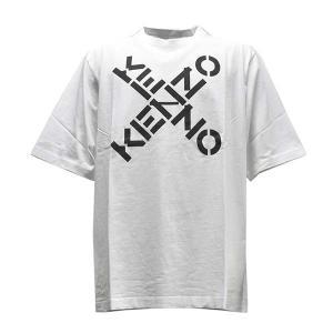 ケンゾー KENZO Tシャツ トップス ロゴTシャツ Sサイズ FA65TS5024SJ メンズ ホワイト 100%コットン ロゴ ブランド fashion-labo