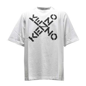 ケンゾー KENZO Tシャツ トップス ロゴTシャツ Mサイズ FA65TS5024SJ メンズ ホワイト 100%コットン ロゴ ブランド fashion-labo