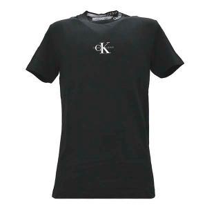 カルバンクラインジーンズ CALVIN KLEIN JEANS Tシャツ トップス クルーネック 半袖 Sサイズ メンズ ブラック 黒 CKロゴ 丸首 ブランド J30J315878 fashion-labo