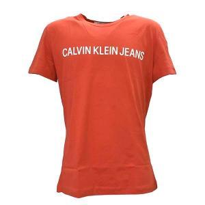 カルバンクライン CALVIN KLEIN Tシャツ Sサイズ ティーシャツ 半袖Tシャツ クルーネック メンズ レッド ロゴ ブランド J30J307856 fashion-labo