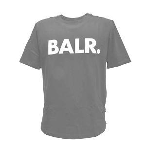 ボーラー BALR Tシャツ 半袖 Tシャツ 半そで クルーネック XSサイズ B10001 メンズ ブラック 黒 ホワイトロゴ ブランド トップス 丸首 fashion-labo