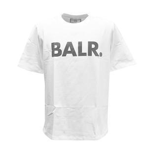 ボーラー BALR Tシャツ 半袖 Tシャツ 半そで クルーネック Mサイズ B10001 メンズ ホワイト 白色 ブラックロゴ ブランド トップス 丸首 fashion-labo