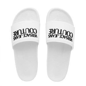 ヴェルサーチ VERSACE サンダル シャワーサンダル シューズ 靴 メンズ ホワイト 白 40 25.0cm ブランド E0YVBSQ2|fashion-labo