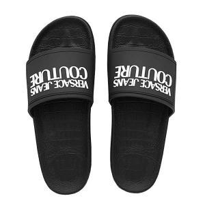 ヴェルサーチ VERSACE サンダル シャワーサンダル シューズ 靴 メンズ ブラック 黒 41 25.5cm ブランド E0YVBSQ2|fashion-labo
