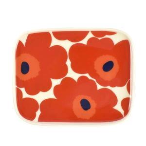 マリメッコ MARIMEKKO プレート お皿 皿 食器 ウニッコ 63436 レディース レッド 赤 花柄 フラワー ブランド|fashion-labo