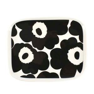 マリメッコ MARIMEKKO プレート 食器 小皿 皿 ウニッコ unikko 食器 71067 メンズ レディース ブラック ホワイト 黒色 白色 花柄 ブランド|fashion-labo