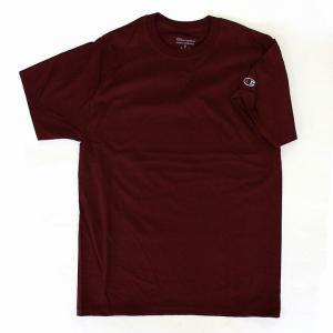 チャンピオン Champion メンズ クルーネック 無地 USA規格 ビッグシルエット 半袖 半そで Tシャツ シャツ ブランド レディース マルーン 1700 fashion-labo