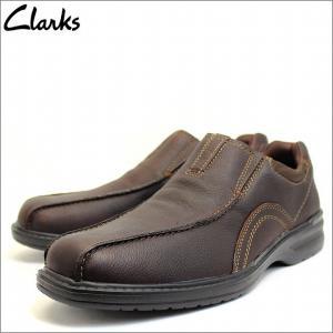 クラークス Clarks 靴 シューズ ビジネスシューズ ウォーキング レザー スリッポン 本革 ダークブラウン メンズ ブランド 26103263|fashion-labo