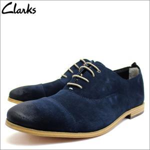 クラークス Clarks 靴 シューズ ビジネスシューズ スエード レザー 本革 ダークブルー メンズ ブランド 26115377