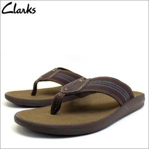 クラークス Clarks 靴 シューズ ビーチサンダル サンダル Beayer Walk レザー 本革 ブラウン メンズ ブランド 26118154|fashion-labo