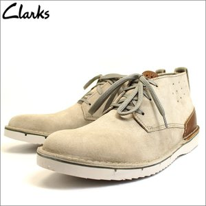 クラークス Clarks 革靴 ブーツ デザートブーツ チャッカ スエード レザー 本革 サンド ベージュ メンズ ブランド 26124268 セール 2018 秋冬 新作|fashion-labo