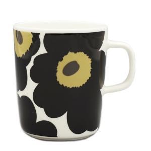 マリメッコ MARIMEKKO マグカップ ウニッコ ブラック ホワイト 白 黒 レディース 063431 OIVA UNIKKO Mカップ BK030 花柄 フラワー|fashion-labo