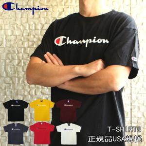 チャンピオン Champion Tシャツ メンズ レディース 半袖 半そで ロゴ ビッグシルエット トップス クルーネック USA シャツ ブランド gt23h fashion-labo